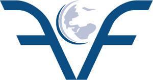 Logo des VFF mit einem gespiegelten f das die IFA-Welkugel aus dem IFA-Logo einrahmt