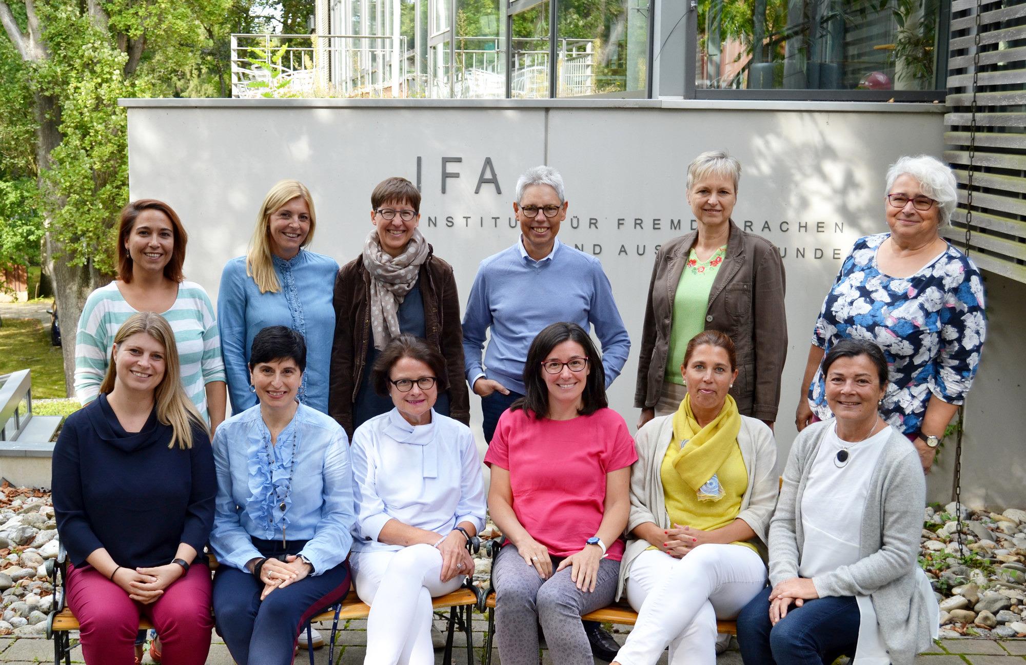 Abgebildet ist die spanische Abteilung des Instituts vor dem Neubau des IFA.