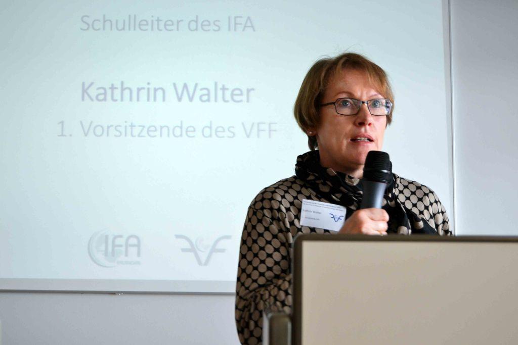 Referentin Kathrin Walter, Vorsitzende des VFF, beim IFA Career Day 2017