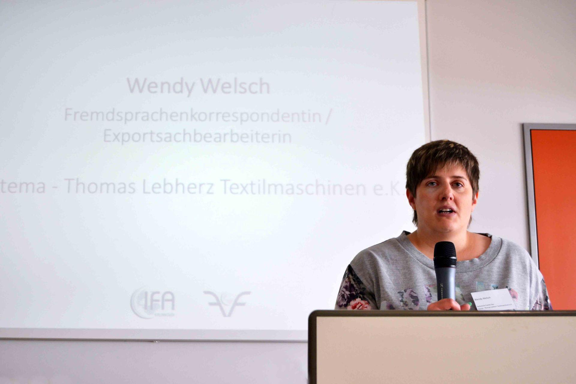 Referentin Wendy Welsch beim IFA Career Day 2017