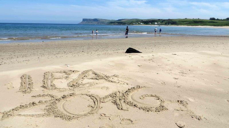 Schriftzug IFA 2016 im Sand am Meer