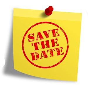 Save the date-Schriftzug